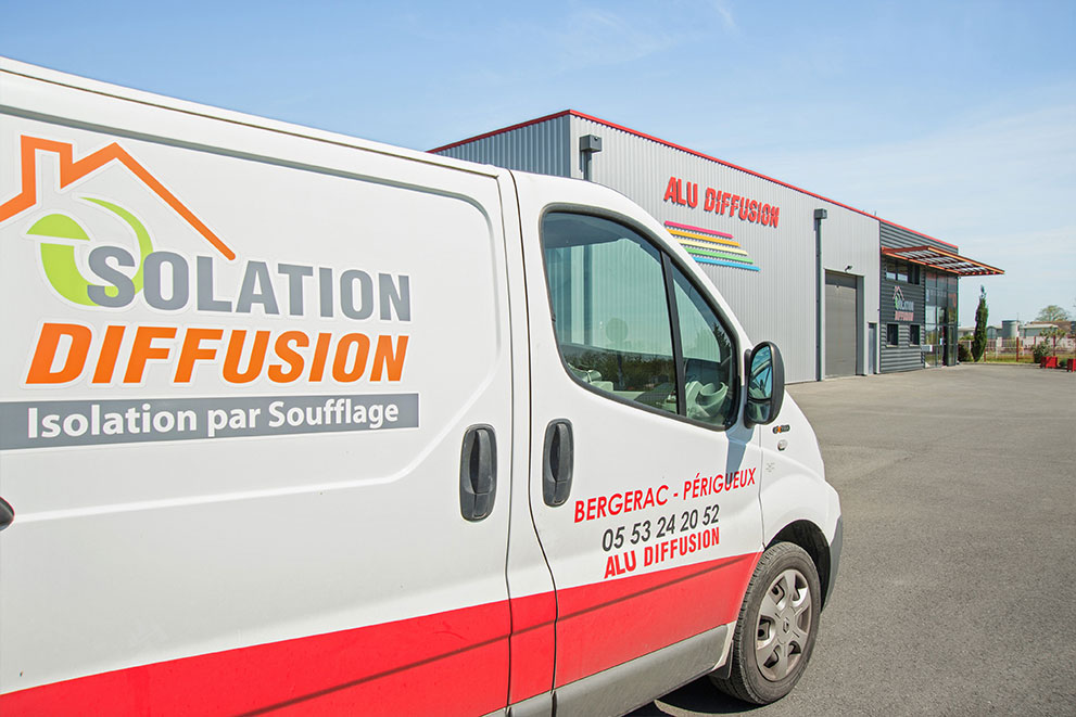 Camion isolation diffusion